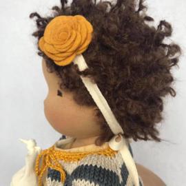 Violet - a 16''/42 cm tall Handmade Waldorf Doll