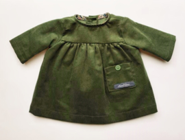 "Doll dress, for 42cm/16"" dolls - dark forest green"
