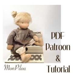 PDF patroon en tutorial  - Aankleedpopje 36 cm lang (Dutch)