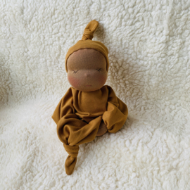 Zen Knoopje - mocca skin/safran yellow