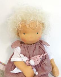 Vlinder - a 16''/42 cm tall Handmade Waldorf Doll