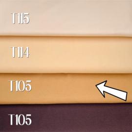 Poppen tricot/interlock -  licht bruin - 25 cm. - De Witte Engel