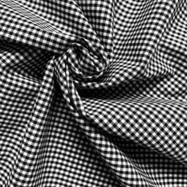 Cotton gingham  2,7 mm  Black