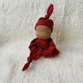 Zen Knoopje - mocca skin/warm rust red