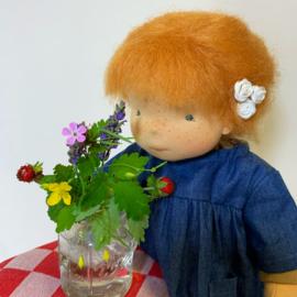 "Flo, a  unique handmade doll of 36 cm/ 14"" tall"
