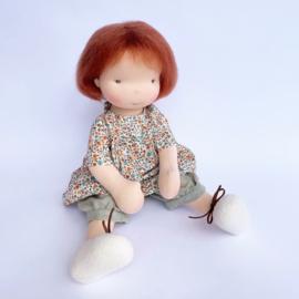 June - a 16''/42 cm tall Handmade Waldorf Doll