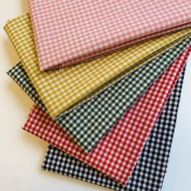 Gingham 2,7 mm bundle of 5 colours