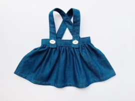 "Doll suspender skirt, for 42cm/16"" dolls - Denim"