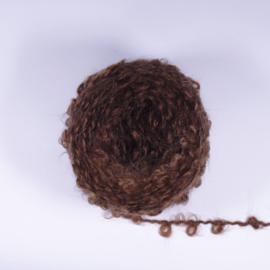Wild Large Loop Mohair Yarn - Rich Brown - 40 grams