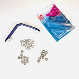Prym - 10 mm naaivrije drukknopen, voor jersey - zilverkleur