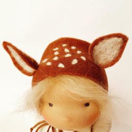 Deer Doll Cinnamon - Blonde hair - a 14''/35 cm tall