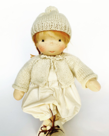 Julka - a 12''/35 cm tall Handmade Waldorf Doll