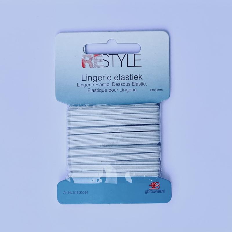 Lingerie elastiek 6 meter - 3 mm. breed