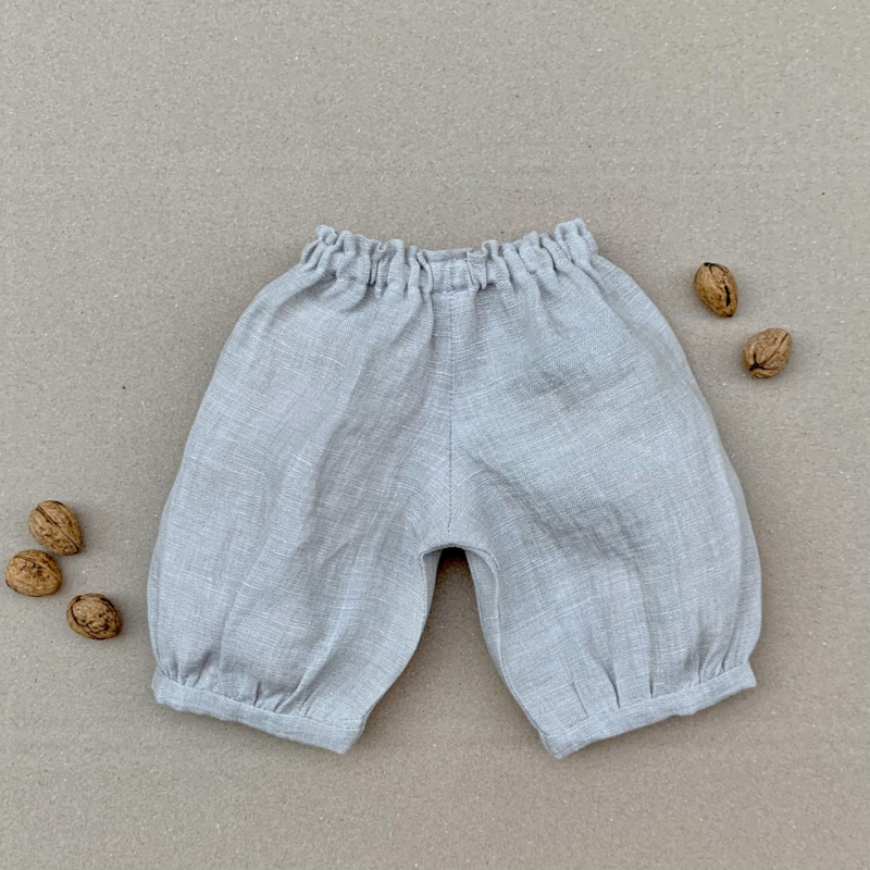 Linen Puffy doll pants - in 3 sizes - 7 colours - (MTO)