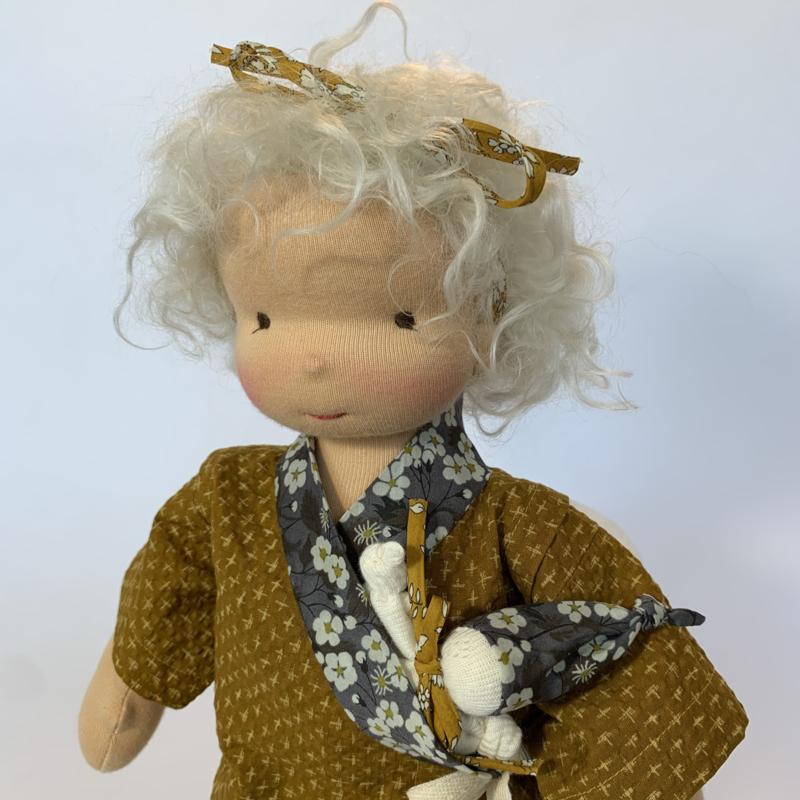 Milja - a 14''/35 cm tall Handmade Waldorf Doll