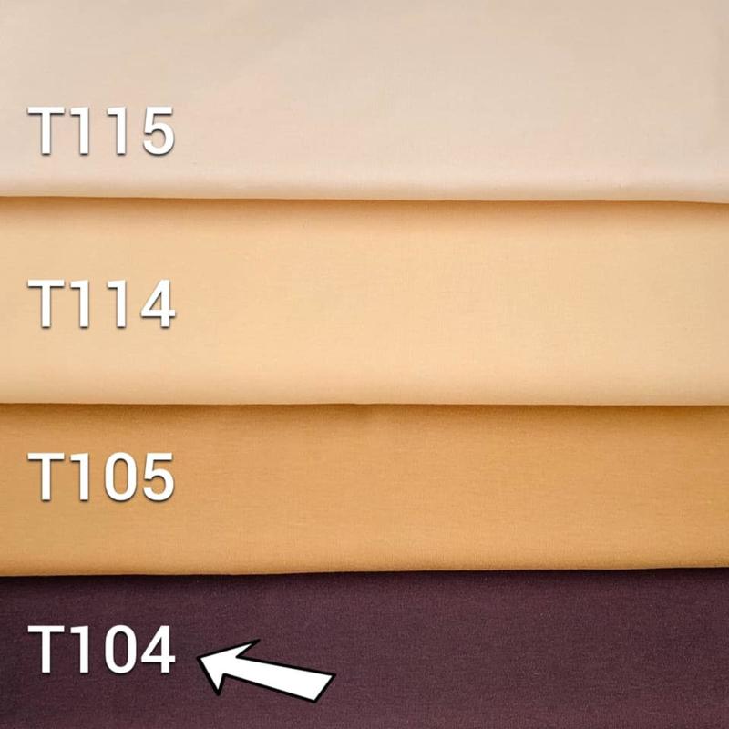 Doll  tricot/interlock - Brown -25 cm. - De Witte Engel