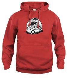 Hooded sweater uni - leuntje zijspan