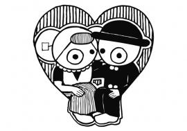 kaart - leuntje valentijn