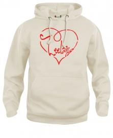 Hooded sweater uni - zeeland hart