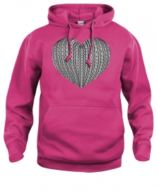 Hooded sweater uni - schortebont hart