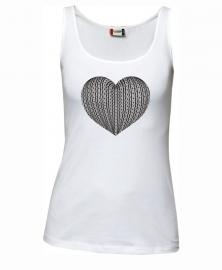 Tanktop dames - schortebont hart