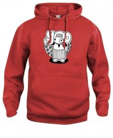 Hooded sweater uni - leuntje peace