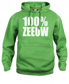 Hooded sweater uni - 100% zeeuw