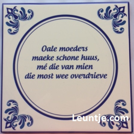 Sticker - Moeders overdrieve