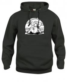 Hooded sweater uni - leuntje strand