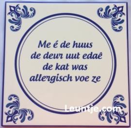 Sticker - Kat allergisch