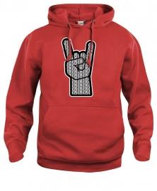 Hooded sweater uni - rock schortebont