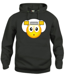 Hooded sweater uni - smiley sad