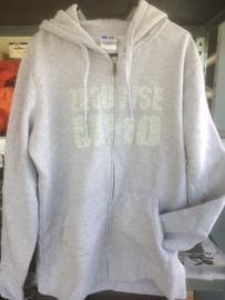 Hooded vest zeeuwse meid - maat  XL - merk Russel - licht grijs