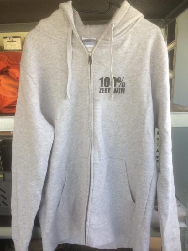 Hooded vest 100% zeeuwin - maat  XL - merk Russel - licht grijs