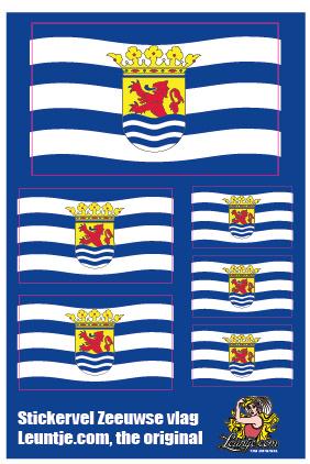 stickervel zeeuwse vlag