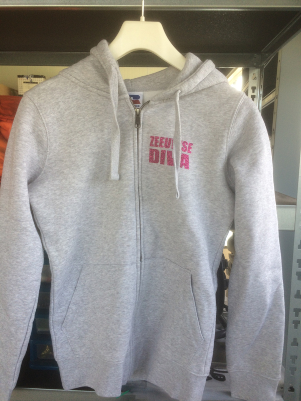 Hooded vest zeeuwse diva - maat  XS - merk Russel - licht grijs