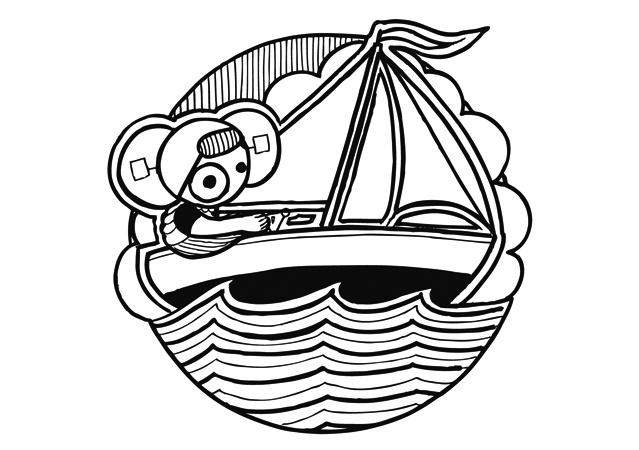 kaart - leuntje zeilboot
