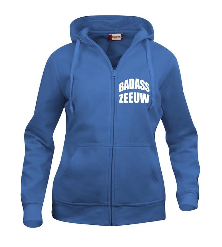 Hooded vest dames - badass zeeuw