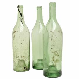 Oude wijnfles - Groen