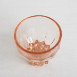 Vintage shotglaasjes set 3st. - Oud roze