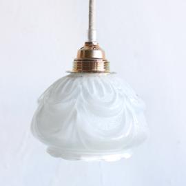 Lampenkapje glas - Bloem wit