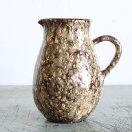 Vintage kan aardewerk - Bruin beige