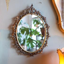 Vintage spiegel barok - Messing ovaal