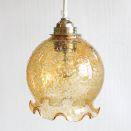 Lampenkapje glas - Oker met ruffel