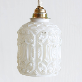 Lampenkapje glas - Barok wit