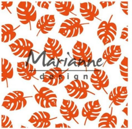 Md embossing folder tropical leaves