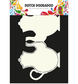 dutchdoobadoo card art teapot A4
