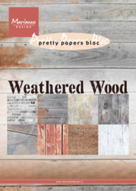 MD pretty paper bloc weathered wood