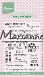 Marianne Design - Clearstamps - Eline Pellinkhof: Eline`s baby tekstjes