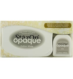 stazon opaque cotton white